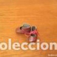 Muñeca española clasica: ZAPATOS MUÑECA GRANATES. Lote 109534239