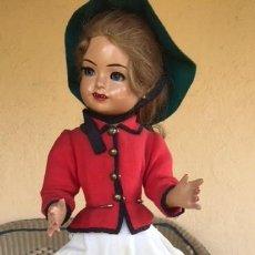 Muñeca española clasica: MUÑECA SISSI DE AMAZONA O JINETE TODA ORIGINAL , INDUSTRIAS LEB 1953. Lote 110545035