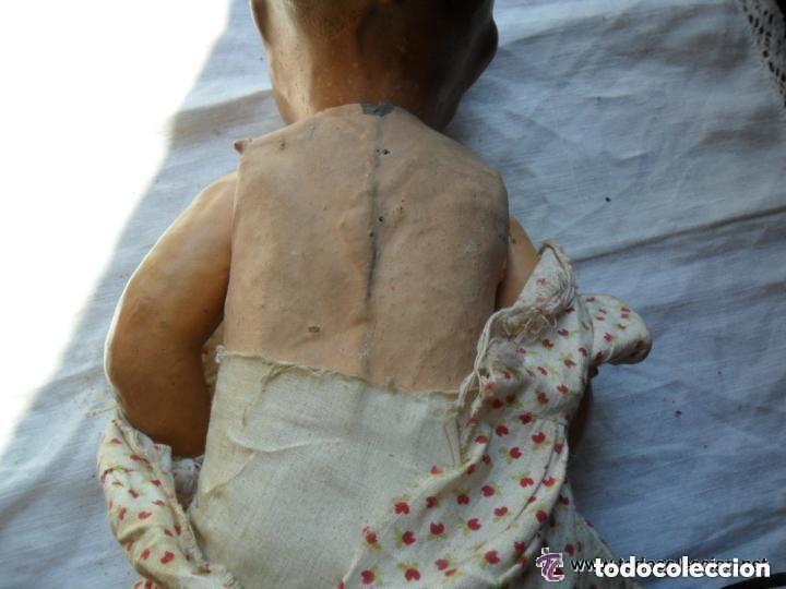 Muñeca española clasica: MUÑECA BEBÉ CON CABEZA DE CERÁMICA Y CUERPO DE CARTÓN PIEDRA AÑOS 20 - Foto 8 - 111735091
