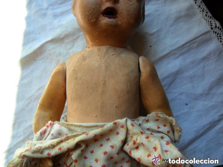 Muñeca española clasica: MUÑECA BEBÉ CON CABEZA DE CERÁMICA Y CUERPO DE CARTÓN PIEDRA AÑOS 20 - Foto 9 - 111735091