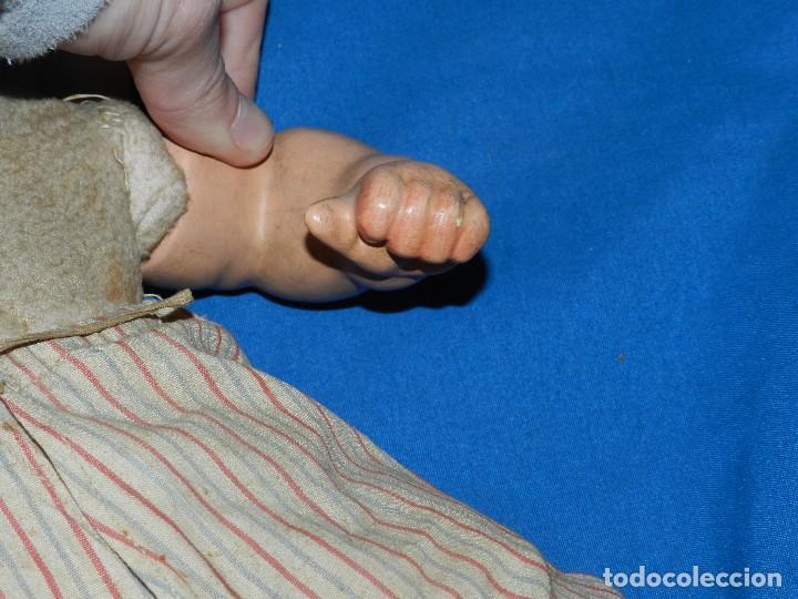 Muñeca española clasica: (M) BEBE ANTIGUO DE TERRACOTA ANTIGUO , 42 CM, TODO ORIGINAL, VER FOTOGRAFIAS - Foto 7 - 111858355