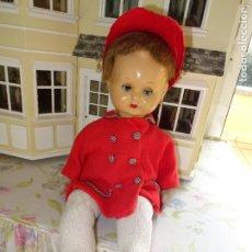 Muñeca española clasica: PRECIOSO Y ANTIGUO MUÑECO MILITIN DE CASA FLORIDO. Lote 112438039