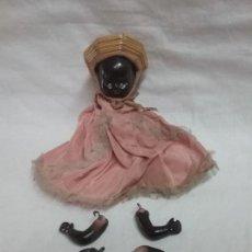 Muñeca española clasica: ANTIGUA MUÑECA MUÑECO DE TERRACOTA ETNICO NEGRO - MARCADA CR 100/ 3. Lote 112767103