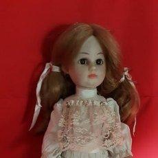 Muñeca española clasica: MUÑECA REALIZADA EN MATERIAL PLÁSTICO CON VESTIDO EN AZUL MUY CLARO.. Lote 112915095