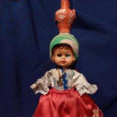 Muñeca española clasica: PEQUEÑA MUÑECA ANTIGUA ,CELULOIDE . OJOS BAILONES, DURMIENTES. Lote 113250103
