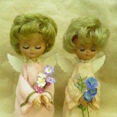 Muñeca española clasica: PAREJA DE ANGELES,ANGEL DE LA PAZ,LINDA PIRULA,BOMBONERA,AÑOS 60. Lote 195049117