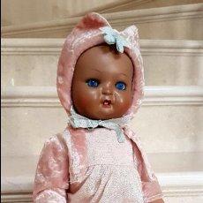 Muñeca española clasica: PRECIOSO MUÑECO, BEBE ANTIGUO DE COMPOSICION CARTON,AÑOS 1930-1940. Lote 114803987