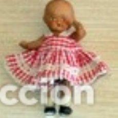 Muñeca española clasica: MUÑECA PORCELANA COMPLETA CON SU TRAJE AÑOS 30-40 EN BUEN ESTADO MIDE 12 CM. Lote 102459859