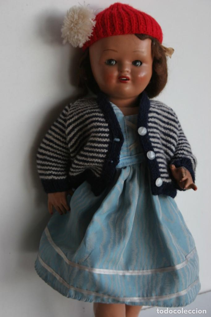 Muñeca española clasica: MARICIELA SANTIAGO MOLINA CON GORRO Y VESTIMENTA ORIGINAL - Foto 3 - 115421911
