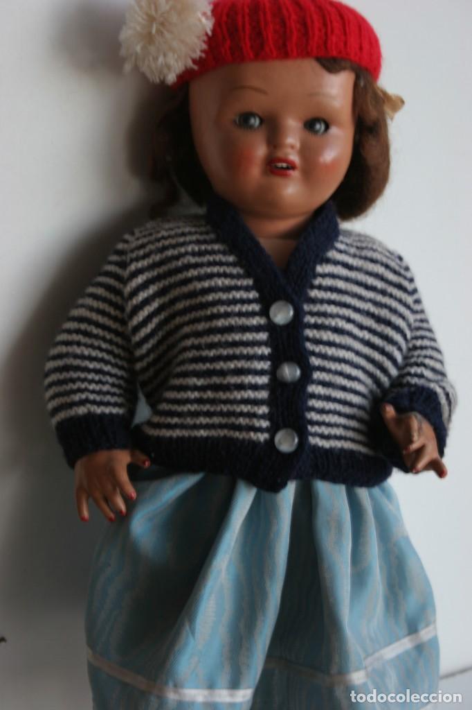 Muñeca española clasica: MARICIELA SANTIAGO MOLINA CON GORRO Y VESTIMENTA ORIGINAL - Foto 18 - 115421911
