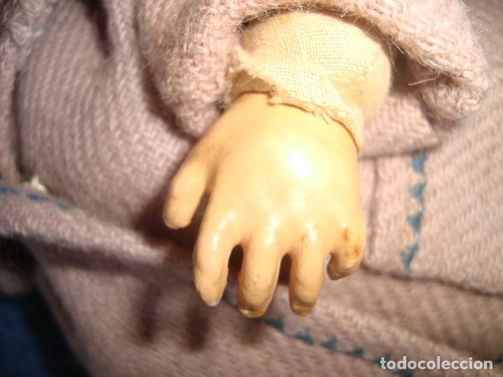 Muñeca española clasica: MUÑECA CABEZA DE COMPOSICION O BARRO, CUERPO DE TELA Y SERRIN - Foto 12 - 116390999