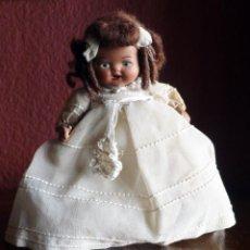 Muñeca española clasica: MUÑECA DE TERRACOTA DE COMUNION CON PELO MOHI DE 16 CM. DE ALTURA. Lote 116677115