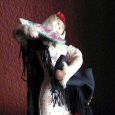 Muñeca española clasica: MUÑECA DE TRAPO Y ALAMBRE BAILAORA CON MUCHOS DETALLES EN BUEN ESTADO DE 18 CM. DE ALTURA. Lote 116677531