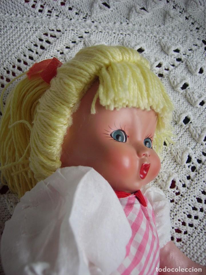 Muñeca española clasica: Antigua muñeca española de trapo y cara de celuloide, ojos de cristal. MARI PEPA MENDOZA? - Foto 2 - 116994651