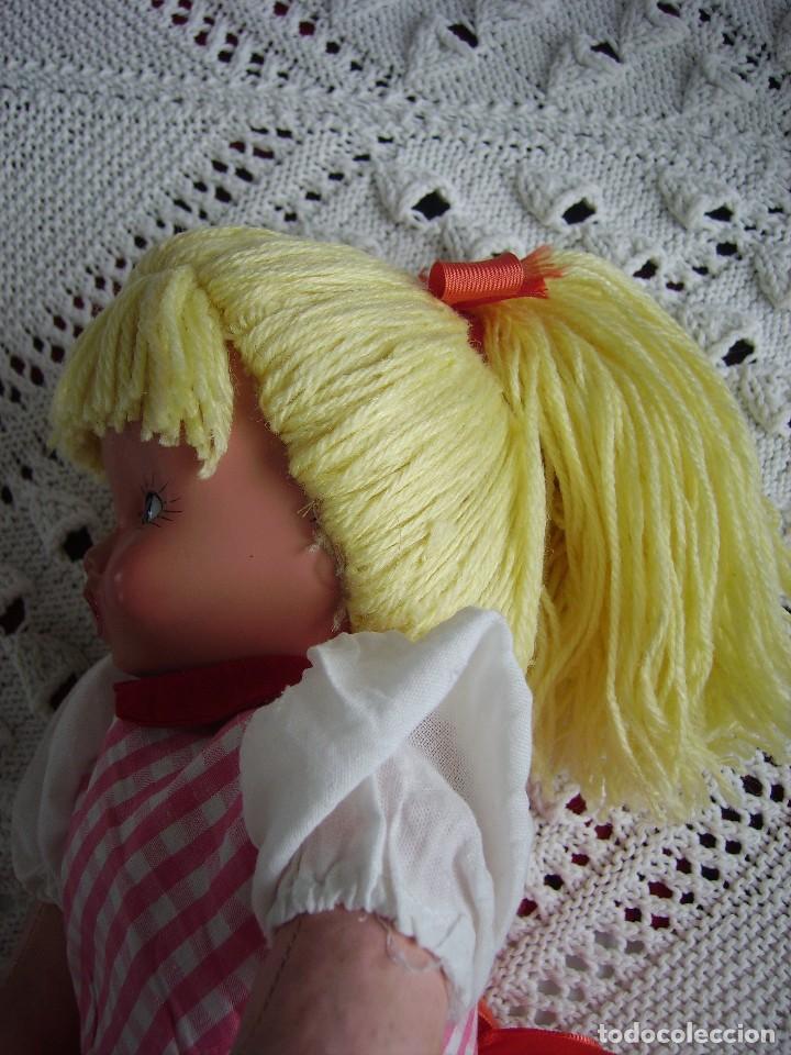 Muñeca española clasica: Antigua muñeca española de trapo y cara de celuloide, ojos de cristal. MARI PEPA MENDOZA? - Foto 3 - 116994651