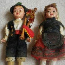Muñeca española clasica: MUÑECOS TRAJE REGIONAL DE ASTURIAS AÑOS 50. Lote 117454248