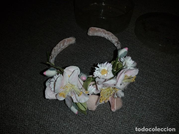 Muñeca española clasica: diadema con flores terciopelo rosa para muñeca, nueva sin uso.daisy music - Foto 2 - 118202483