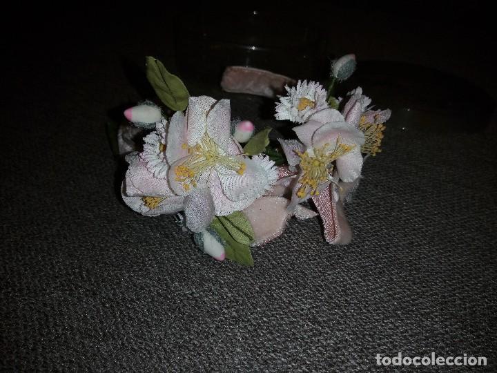 Muñeca española clasica: diadema con flores terciopelo rosa para muñeca, nueva sin uso.daisy music - Foto 3 - 118202483