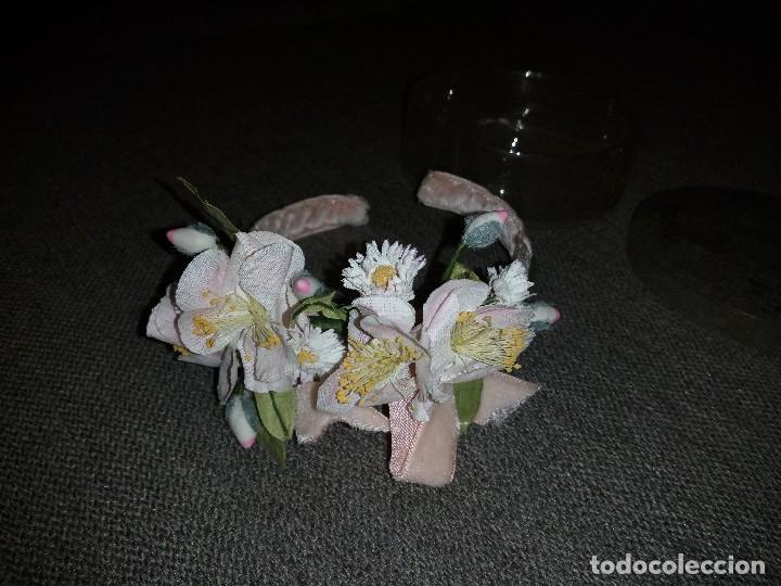 Muñeca española clasica: diadema con flores terciopelo rosa para muñeca, nueva sin uso.daisy music - Foto 4 - 118202483