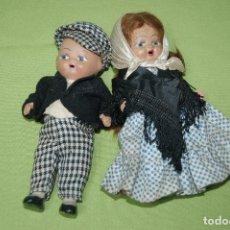 Muñeca española clasica: PAREJA DE MADRILEÑOS EN TERRACOTA DE DENIA. Lote 119503755