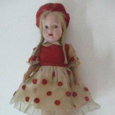 Muñeca española clasica: PRECIOSA MUÑECA DE TRAPO, TIPO LENCI - CABELLO NATURAL - ORIGINAL - AÑOS 40. Lote 120476211