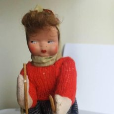 Muñeca española clasica: MUÑECA ESQUIADORA - MUÑECAS VIRGILI AÑOS 50 (17 CMS. ALTURA). Lote 120526159
