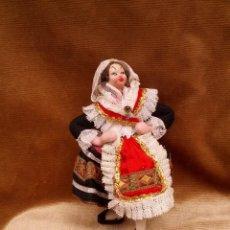 Muñeca española clasica: MUÑECA KLUMPE CON TRAJE REGIONAL, QUIZAS DE ZARAGOZA,, HACIA 1950.. Lote 122582551