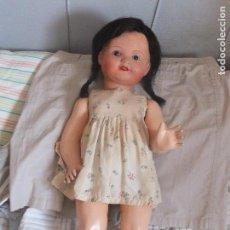 Muñeca española clasica: MUÑECA ANTIGUA,GRANDOTA , AÑOS 50 . OJOS CRISTAL. Lote 122610007