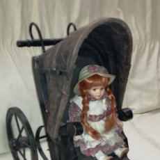 Muñeca española clasica: ANTIGUO Y GRAN CARRITO DE MUÑECA.. Lote 123388186