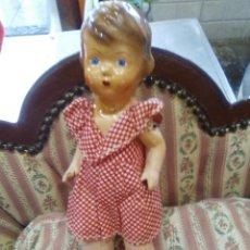 Muñeca española clasica: MUÑECA ANTIGUA AÑOS 50 ..MUY BUEN ESTADO..DESCONOZCO EL NOMBRE MUÑECA... Lote 124302528