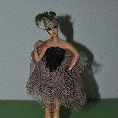 Muñeca española clasica: PRECIOSA MUÑECA DE CERA - BAILARINA - CABARET - AÑOS 20. Lote 124607707