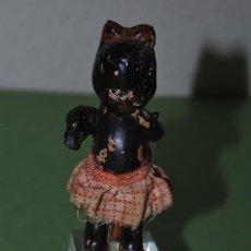 Muñeca española clasica: MUÑECA NEGRA DE BARRO - TERRACOTA - PRINCIPIOS S.XX. Lote 124697639
