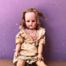 Muñeca española clasica: MUÑECA DE PORCELANA ESPAÑOLA LEHMANN &CÍA. VER MARCAJE. Lote 125863711