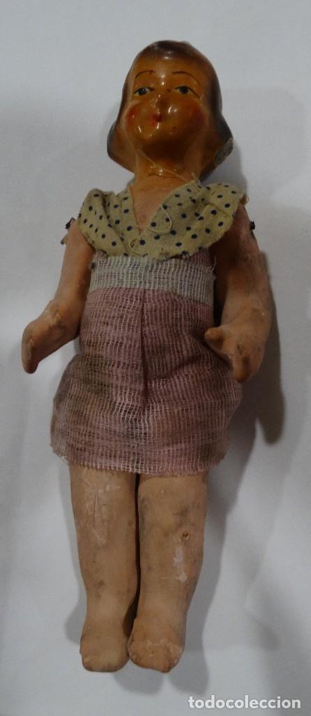Muñeca española clasica: MUÑECA DE CARTÓN PIEDRA AÑOS 40. - Foto 2 - 126492207