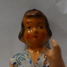 Muñeca española clasica: MUÑECA DE CARTÓN PIEDRA. AÑOS 40.. Lote 126492971
