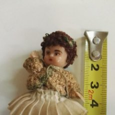 Muñeca española clasica: MUÑECA CELULOIDE MINIATURA ANTIGUA. Lote 127142295
