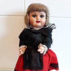 Muñeca española clasica: ANTIGUA MUÑECA MARICELA CON VESTIDO REGIONAL,OJOS DURMIENTES.. Lote 127155823