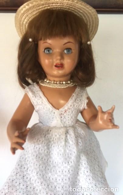 Muñeca española clasica: Preciosa muñeca VICKY de muñecas ViCTORIA de Jose Andres Vidal Onil años 50 carton piedra original - Foto 2 - 128094319