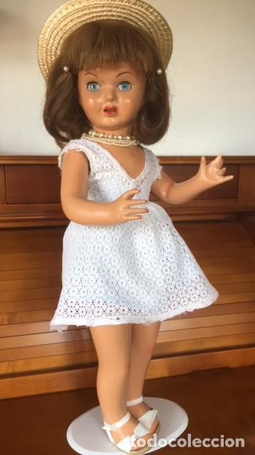 Muñeca española clasica: Preciosa muñeca VICKY de muñecas ViCTORIA de Jose Andres Vidal Onil años 50 carton piedra original - Foto 3 - 128094319