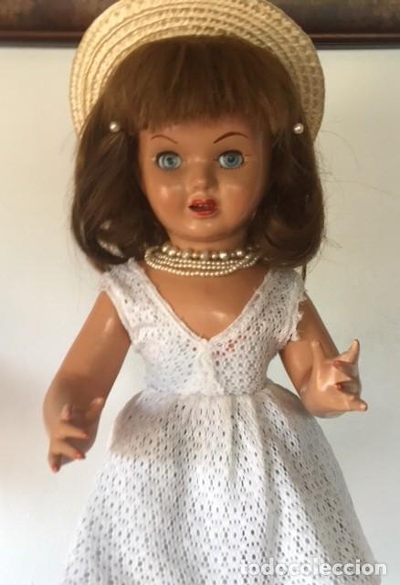 Muñeca española clasica: Preciosa muñeca VICKY de muñecas ViCTORIA de Jose Andres Vidal Onil años 50 carton piedra original - Foto 4 - 128094319