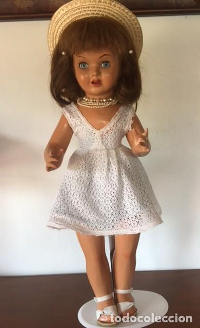 Muñeca española clasica: Preciosa muñeca VICKY de muñecas ViCTORIA de Jose Andres Vidal Onil años 50 carton piedra original - Foto 5 - 128094319