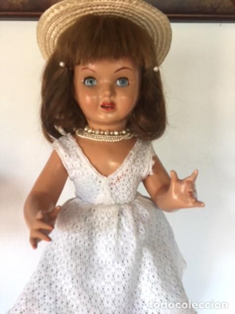 Muñeca española clasica: Preciosa muñeca VICKY de muñecas ViCTORIA de Jose Andres Vidal Onil años 50 carton piedra original - Foto 7 - 128094319