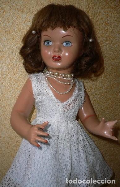 Muñeca española clasica: Preciosa muñeca VICKY de muñecas ViCTORIA de Jose Andres Vidal Onil años 50 carton piedra original - Foto 11 - 128094319
