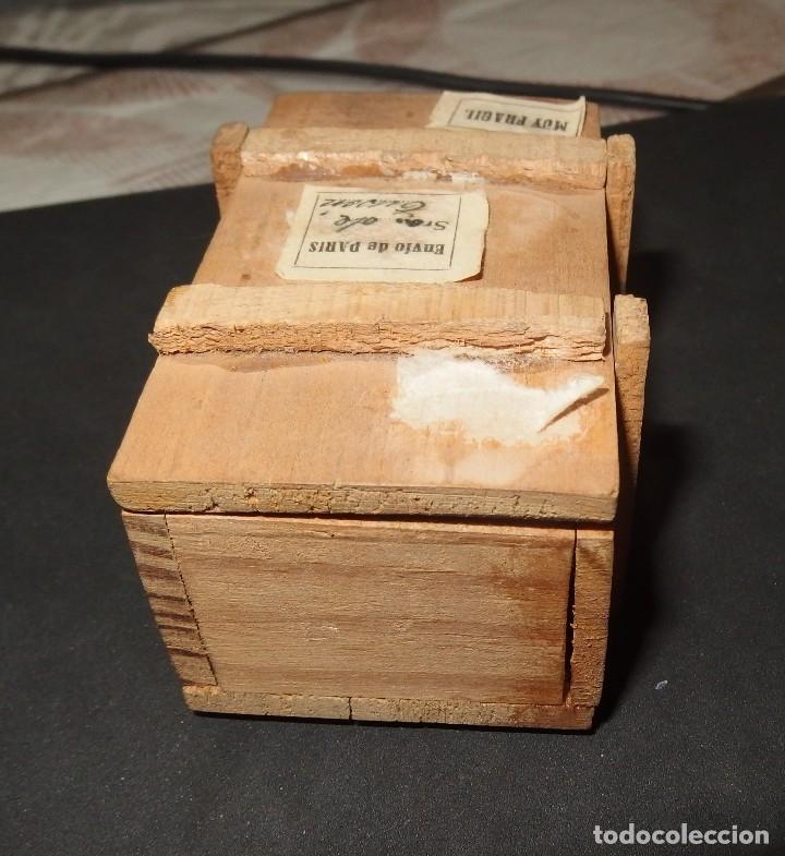 Muñeca española clasica: CAJA DE MADERA,PROCEDENTE DE PARÍS:CON BEBÉ DE TERRACOTA EN SU INTERIOR,AÑOS 30 - Foto 3 - 128216267
