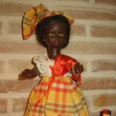 Muñeca española clasica: ANTIGUA MUÑECA NEGRA O NEGRITA.. Lote 129378007