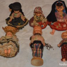 Muñeca española clasica: VINTAGE - LOTE DE 6 MUÑECAS ANTIGUAS DE CELULOIDE - OJOS DURMIENTES - AÑOS 50 / 60 - ENVÍO24H. Lote 129475059