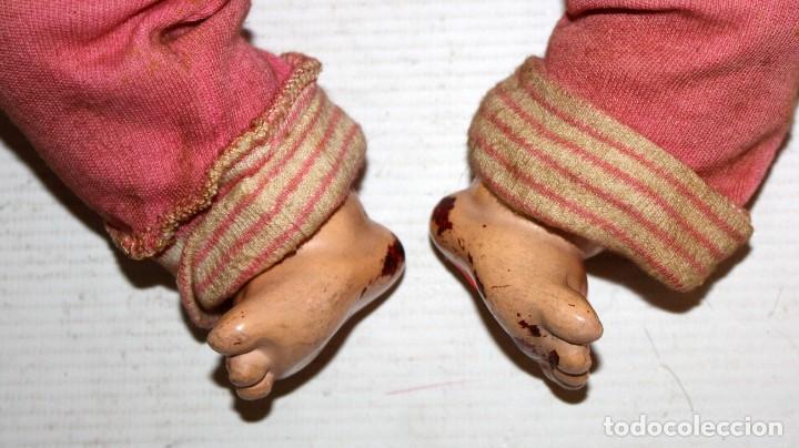 Muñeca española clasica: BEBE QUIQUE ?? DE CARTON PIEDRA. AÑOS 40-50 - Foto 9 - 129985719