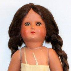 Muñeca española clasica: MUÑECA DE CARTON PIEDRA DE LOS AÑOS 40. Lote 129987043