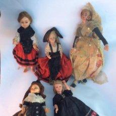 Muñeca española clasica: CONJUNTO DE MUÑECAS DE CELULOIDE Y VARIOS AÑOS 60 -. Lote 130616766