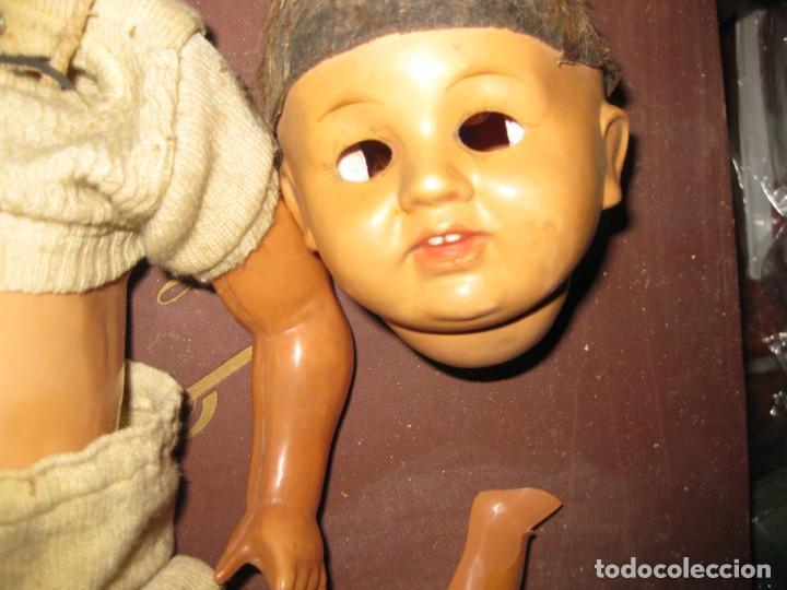 Muñeca española clasica: antiguo muñeco muñeca rota defectuoso . marcado 40 para piezas juanin ? ropa - Foto 3 - 131195624